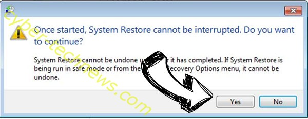 .bufas file virus removal - restore message