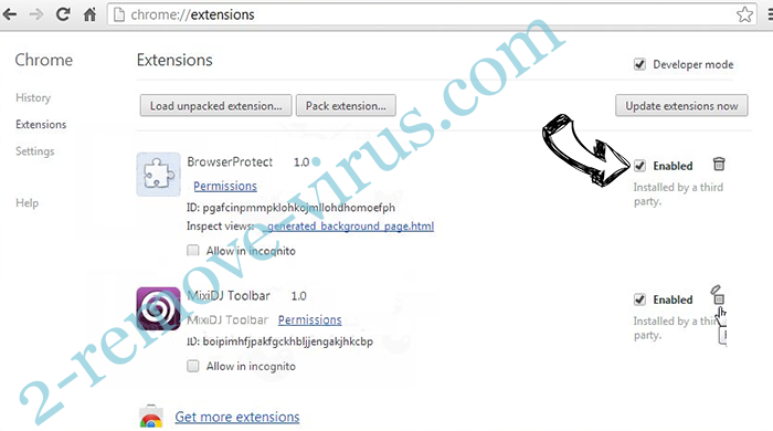 OnTargetYOGA Toolbar Chrome extensions disable