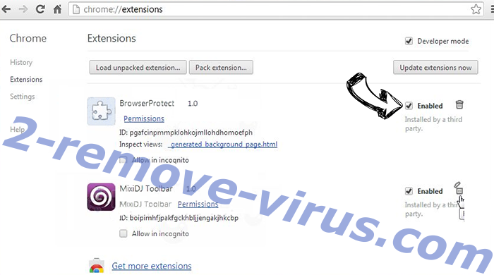 Substand.pro virus Chrome extensions disable
