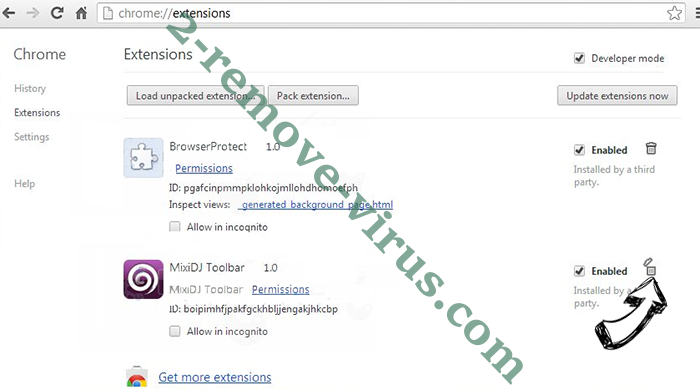 Search.hsearchsmart.co Chrome extensions remove