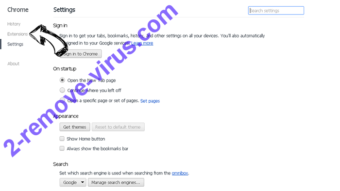 Search.hsearchsmart.co Chrome settings