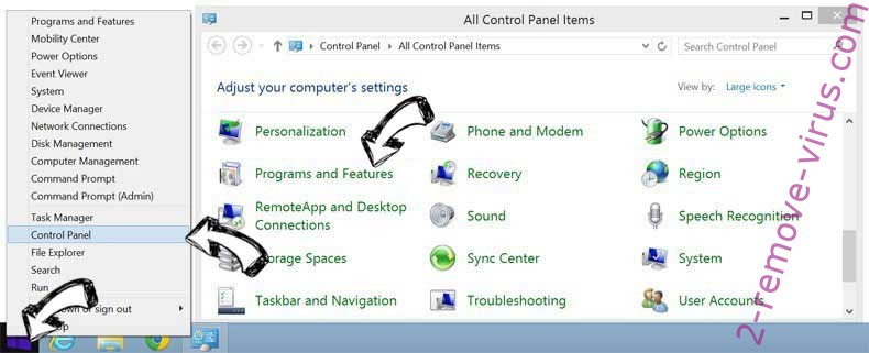 Delete UTab Extension from Windows 8
