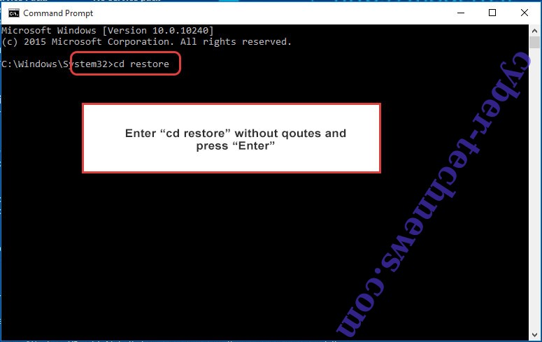 Uninstall middleman2020 ransomware - command prompt restore