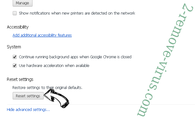 Search.thenewssource.co Chrome advanced menu