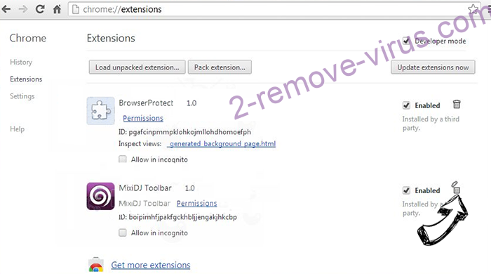 Search-mate.com Chrome extensions remove