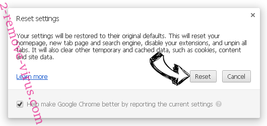 Search-mate.com Chrome reset