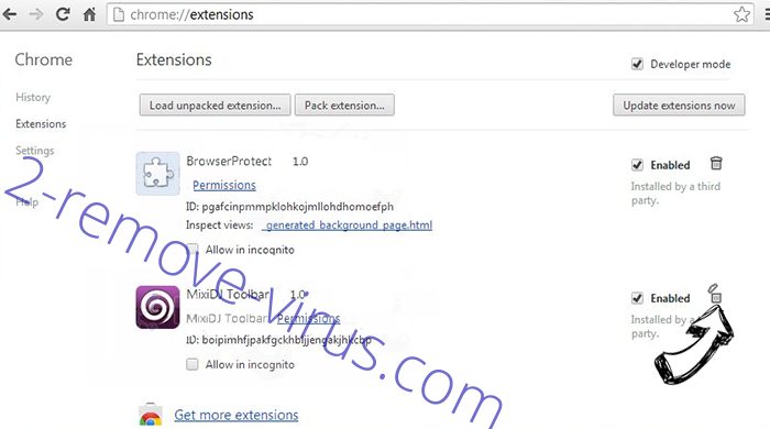 Search.globalsearch.pw Chrome extensions remove