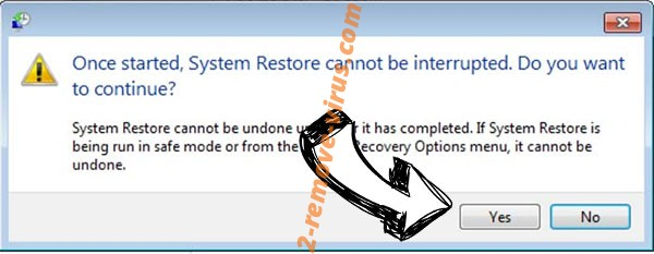 Recovery ransomware removal - restore message