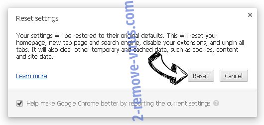 central-messages.com virus Chrome reset