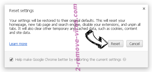 Enperbutling.info pop-up ads Chrome reset