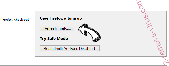 Enperbutling.info pop-up ads Firefox reset