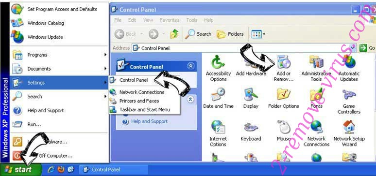 Remove Bodloft.com pop-up ads from Windows XP