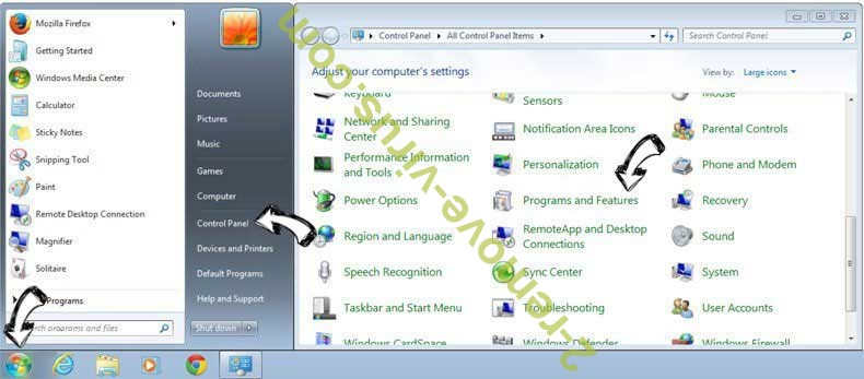 Uninstall MapsScout Offers from Windows 7