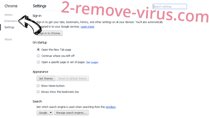 Search By MixMovie Redirect Chrome settings