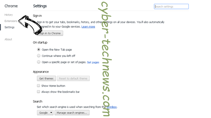 meknews.biz virus Chrome settings