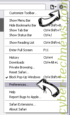 Prizedeal0819.info virus Safari menu