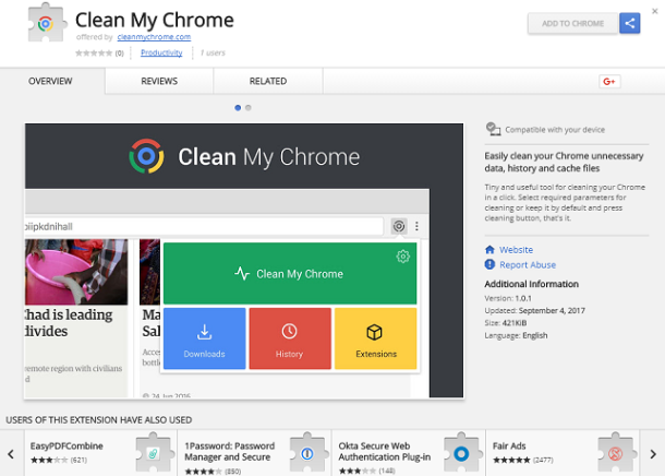Clean My Chrome 1.0.1