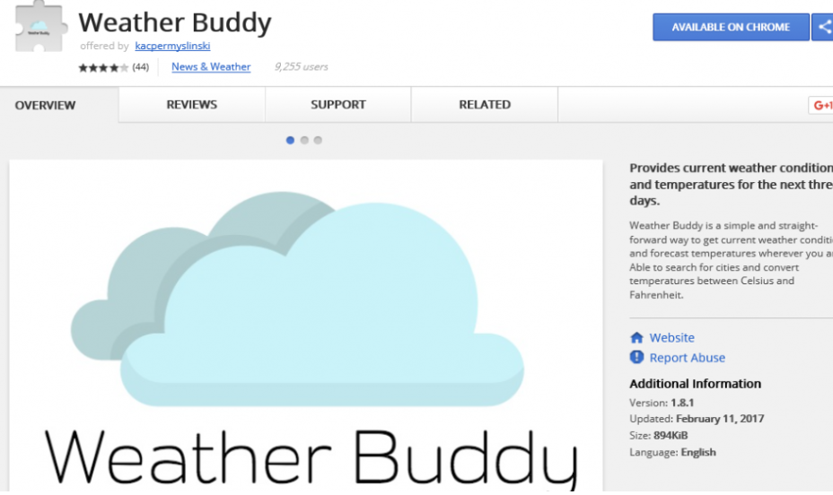 Weather Buddy Ads
