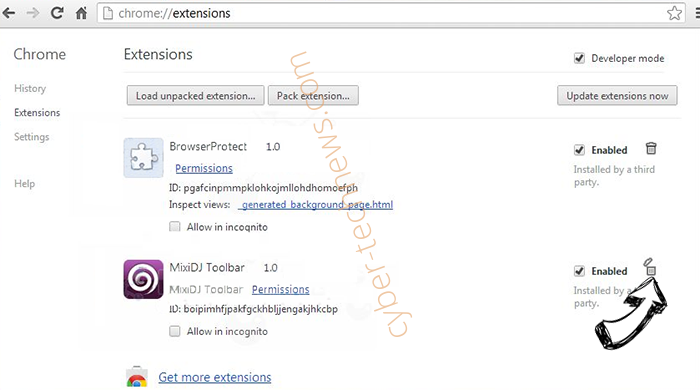 Netsearcher.site redirect Chrome extensions remove