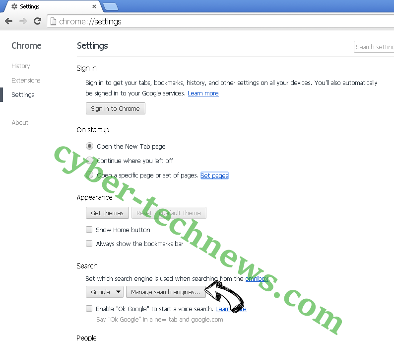Nadinthimmeled virus Chrome extensions disable