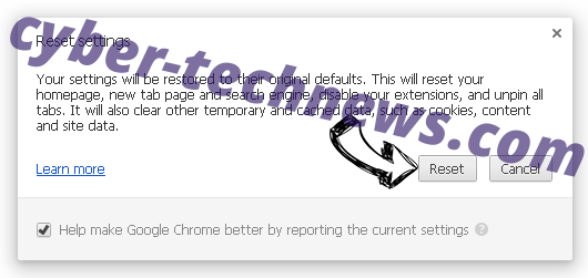 Search.hometab.com Chrome reset