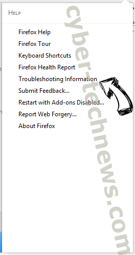 Search.emailhelperapptab.com Firefox troubleshooting