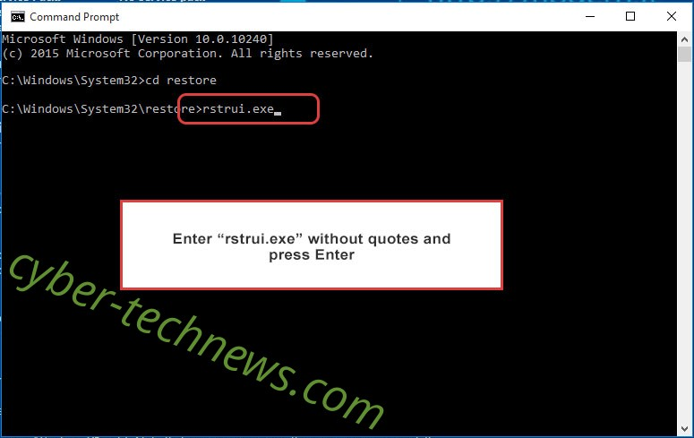 Delete Guarded extension virus - command prompt restore execute