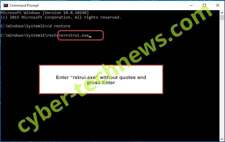 Delete .shade8 extension virus - command prompt restore execute