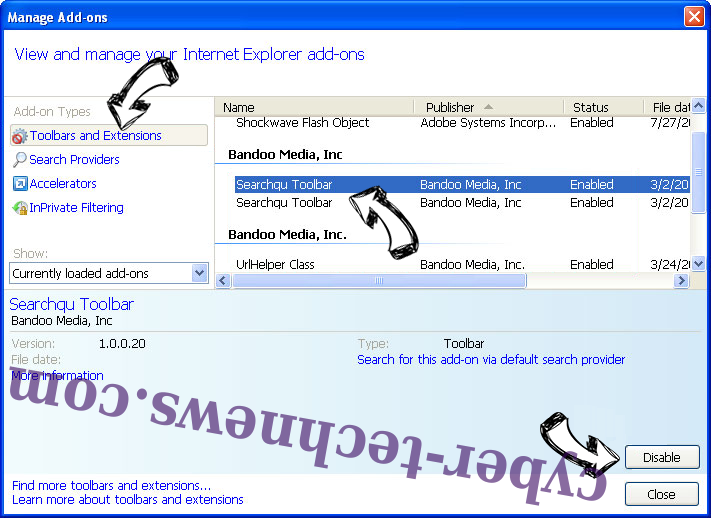 Search.moviegoat.com IE toolbars and extensions