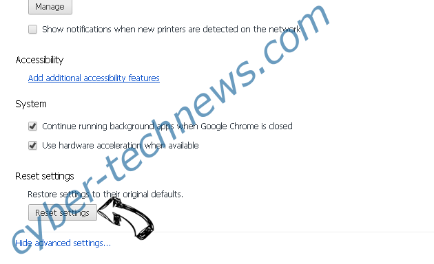 PenWes Adware Chrome advanced menu