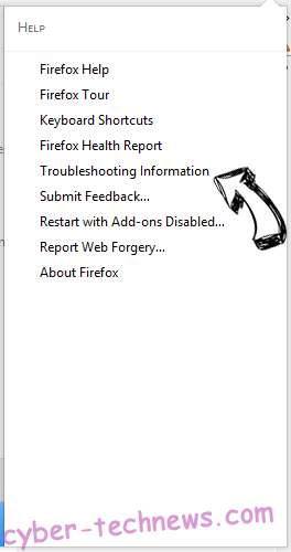 Search.pensirot.com Firefox troubleshooting