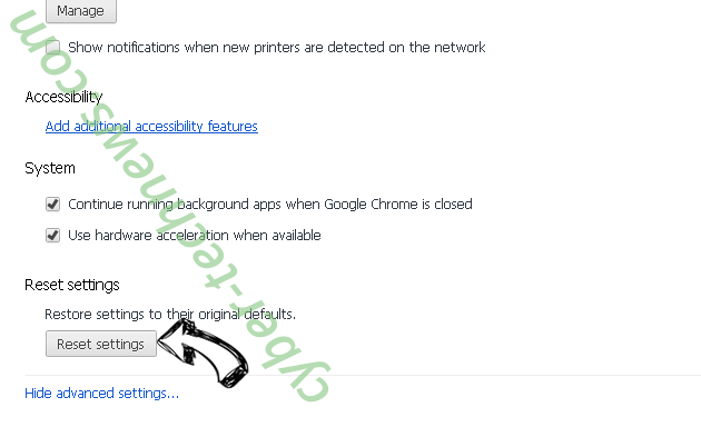 Brainfinds Virus Chrome advanced menu