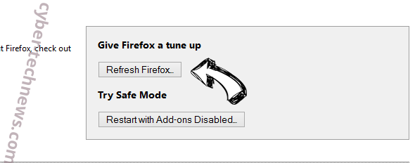 Brainfinds Virus Firefox reset