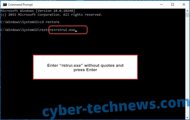 Delete LockOn Virus - command prompt restore execute