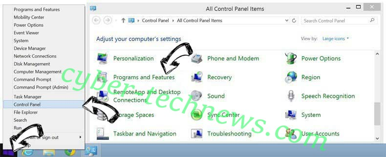 Delete System-sms.com from Windows 8
