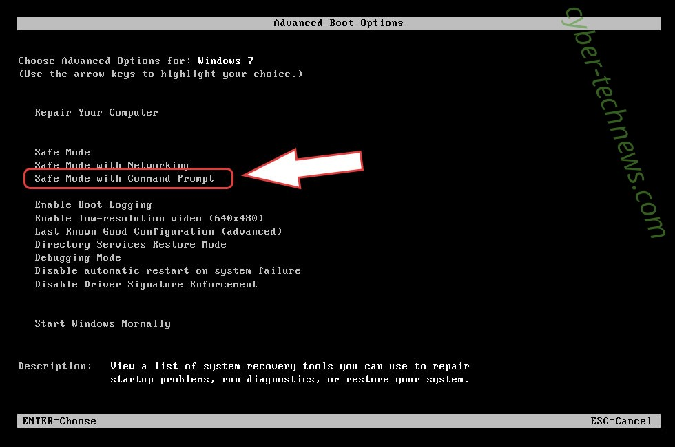 Remove CommonRansom Ransomware - boot options
