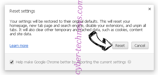 Search.yourtelevisionhub.com Chrome reset