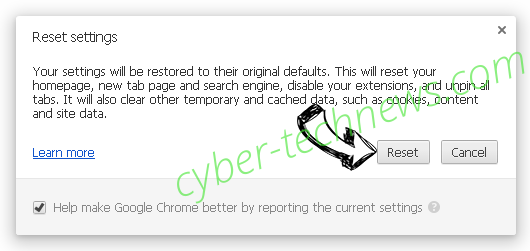 Searchpage.com Chrome reset
