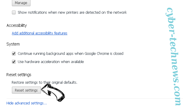 EasyDirections Adware Chrome advanced menu