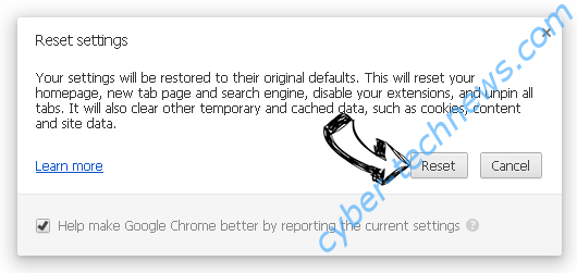 Acadestypicallic.info Chrome reset