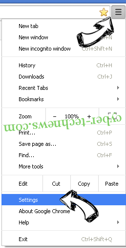 Cuttraffic.com virus Chrome menu