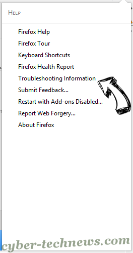Cuttraffic.com virus Firefox troubleshooting