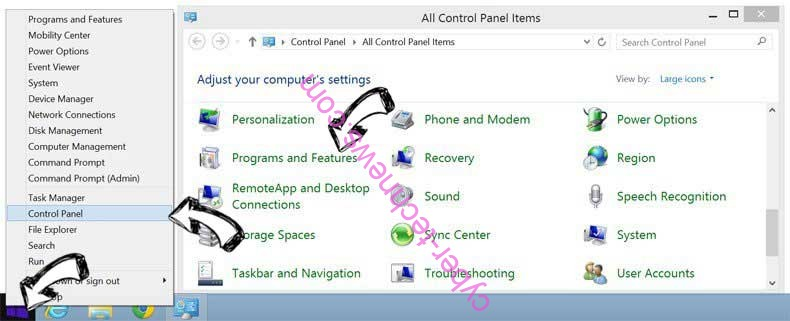 Delete Whateveryf.info from Windows 8