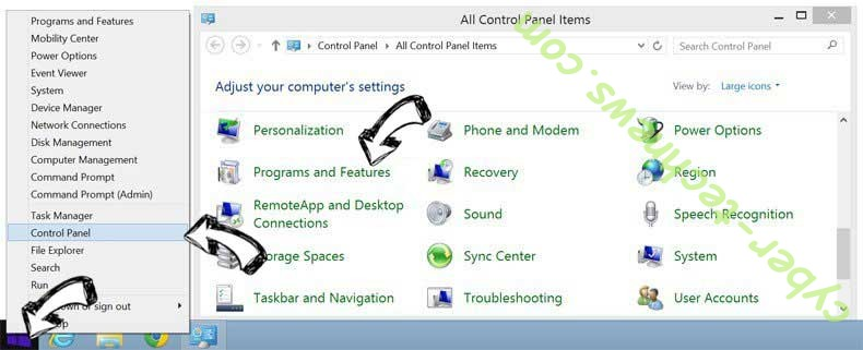 Delete Cuttraffic.com virus from Windows 8