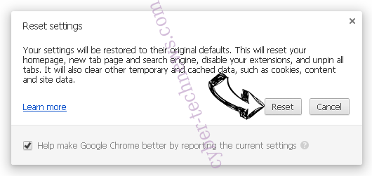 Search.hloginnow.net Chrome reset