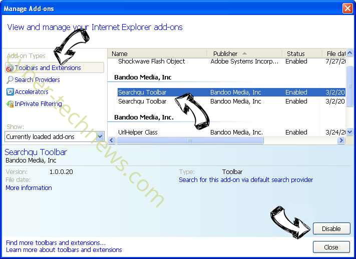 Ravaynore.com IE toolbars and extensions