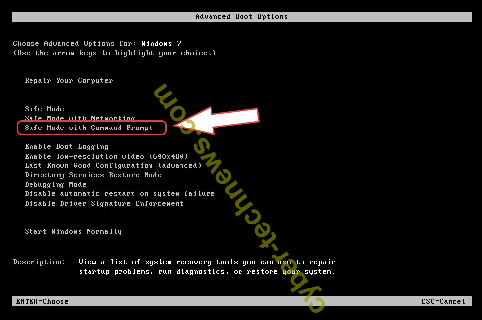 Remove rdp ransomware - boot options