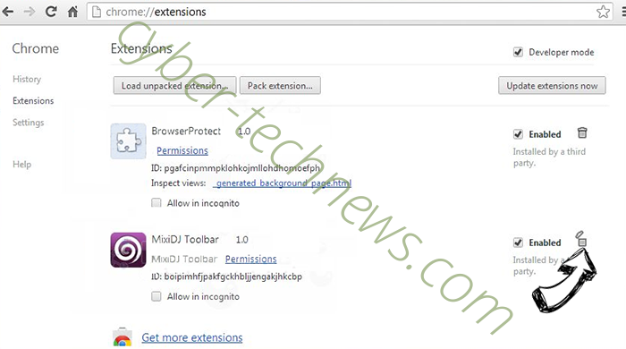 Search.securesearch.live Chrome extensions remove