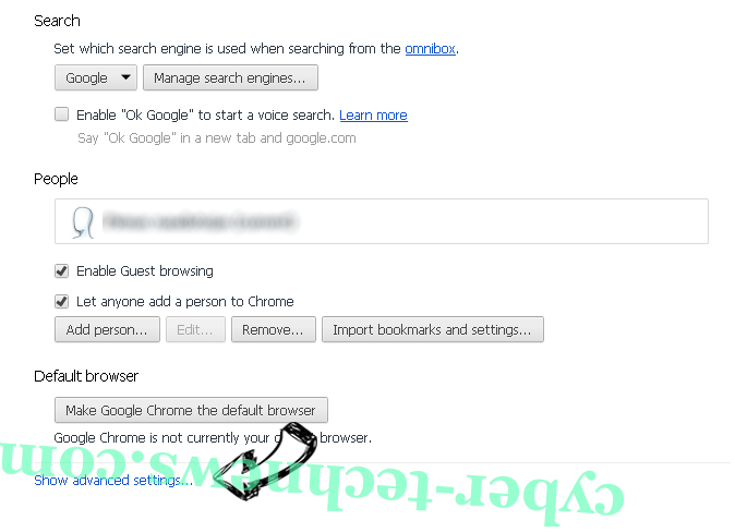 Search.securesearch.live Chrome settings more