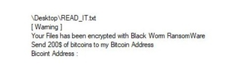 Remove Black Worm Ransomware